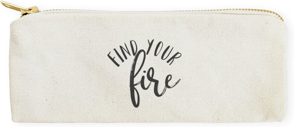 The Cotton & Canvas Co. Find Your Fire Cosmetic Case, Pencil Case and Travel Pouch for Office and Back to School