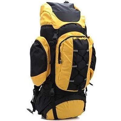 LWJH Sac à Dos D'alpinisme De Haute Capacité Extérieure Professionnelle étanche Sport Randonnée Escalade Camping Sac à Dos Avec Housse De Pluie,Yellow