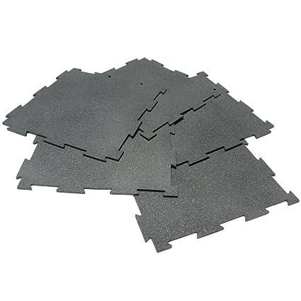 RubberCal PuzzleLock Interlocking Tiles Tiles X X - 12 x 12 rubber floor tiles