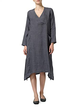 f91c736b115 Vivid Linen Wrap Dress at Amazon Women s Clothing store