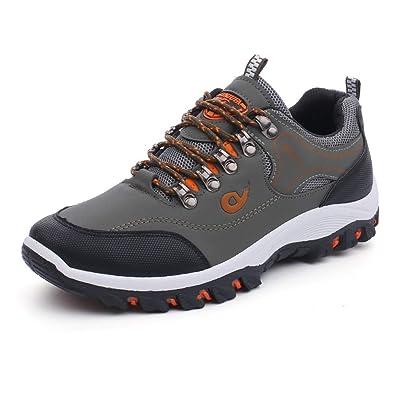 Zapatillas de Trekking para Hombre Pesca Antideslizante Impermeable al Aire Libre Pesca Caza Botas Hombres Senderismo Zapatillas de Deporte: Amazon.es: ...