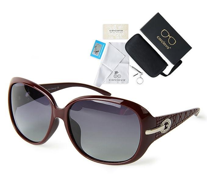 corciova classia Simple grande de las mujeres polarizadas gafas de sol UV400