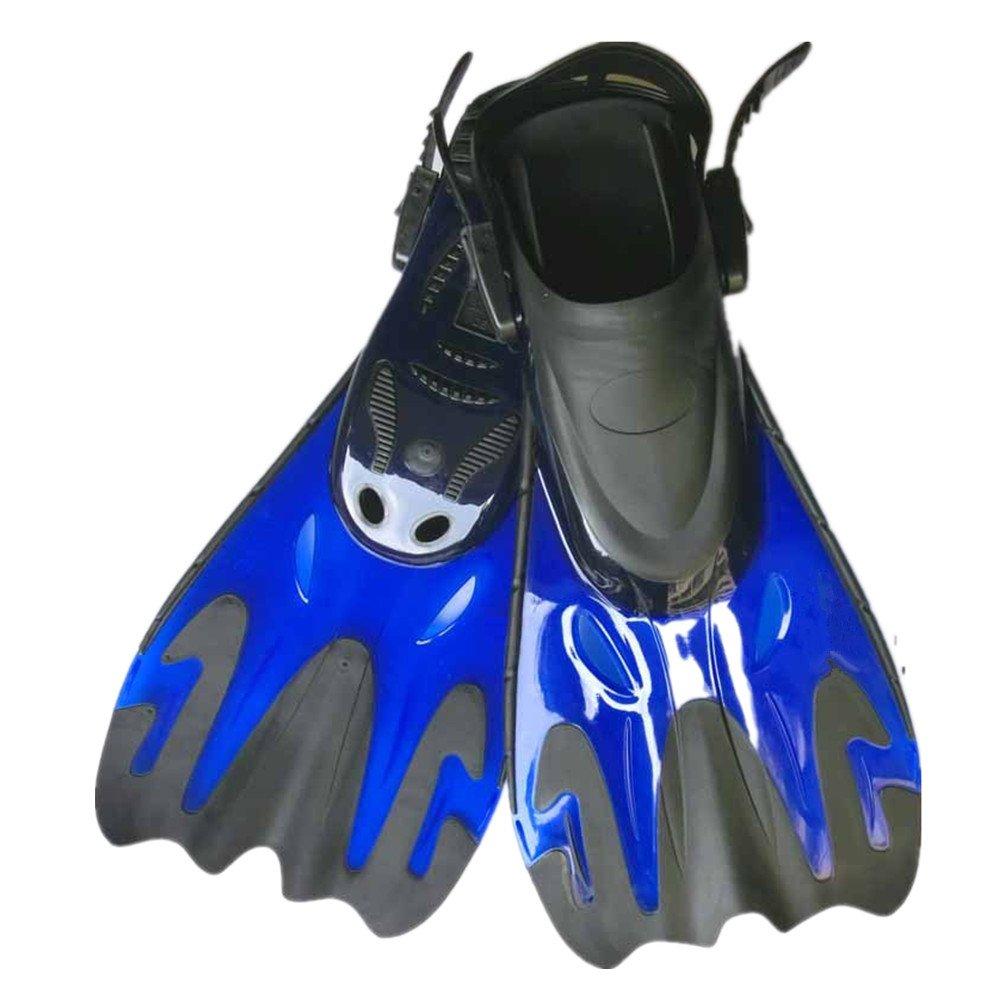 シュノーケリングフィン 水泳のためのシュノーケリングの水生活動のひれのダイビングの短いシュノーケリングのひれ (色 : 青, サイズ : UK 37-40 US 5-8) B07SQVSZ8S 青 UK 37-40 US 5-8