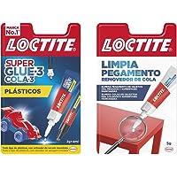 Loctite Super Glue-3, Adhesivo Instantáneo Plasticos Dificiles + Limpia Pegamento, Quita Pegamento Para Corregir Objetos…