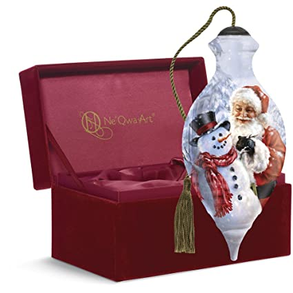 "Amazon.com: Ne'Qwa Art, Christmas Gifts, ""Santa Builds A Snowman ..."