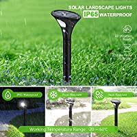 Luz Solar Exterior Jardin,Iluminación LED Para Jardín, IP65 Súper Resistente al Agua, Con Sensor de Movimiento PIR Seguro Para la Decoración del Camino del Césped, 2 Paquetes: Amazon.es: Iluminación