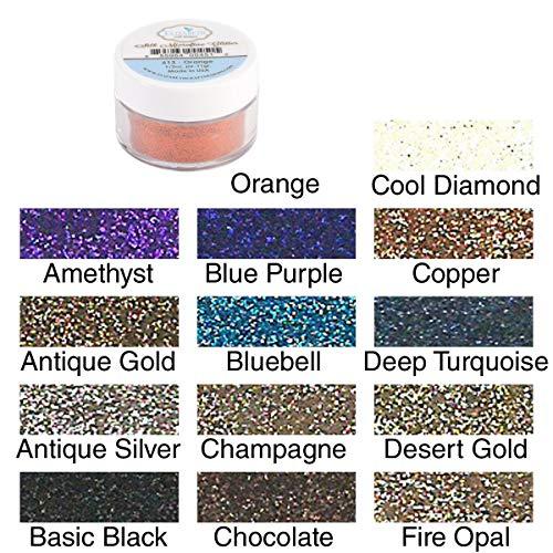 Elizabeth Craft Designs Elizabeth Crafts Silk Microfine Glitter 11 Grams Jar Basic Black (Basic Glitter)