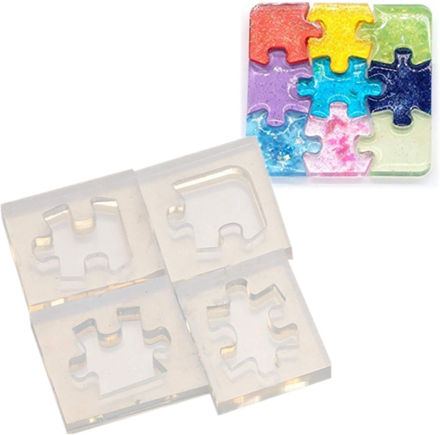 E-HONER Puzzle Piece Stampo in Resina Silicone Puzzle Pastelli Maker Stampo in Silicone Artigianato Artistico