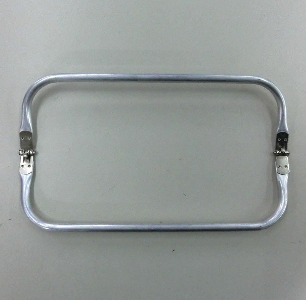 Boquilla de 19x9 cm de metal para hacer monedero, neceser, bolsas y otras manualidades