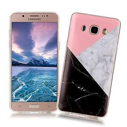 XiaoXiMi Funda Samsung Galaxy J5 2016 SM-J510F con Textura de Mármol Carcasa de Silicona Slim Soft TPU Silicone Case Cover Funda Protectora Carcasa ...