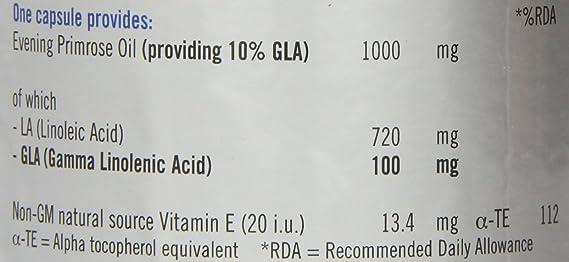 Quest - Aceite de Onagra - 1000mg - 180 Cápsulas: Amazon.es: Salud y cuidado personal