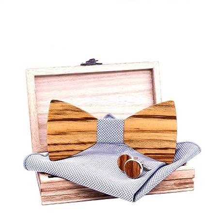 Corbata Única Elegante Corbata de lazo de madera de cebra Corbata ...