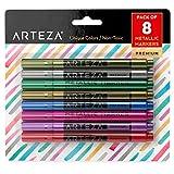 Kitchen & Housewares : Arteza Wine Glass Metallic Markers - Pens (Set of 8)