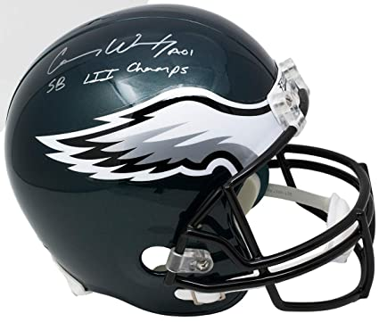 2f92f48bcbf Image Unavailable. Image not available for. Color: Carson Wentz Signed  Eagles Full Size Replica ...