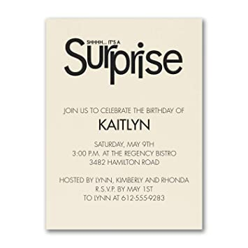 Amazon Com 650pk Surprise Party Birthday Invitation