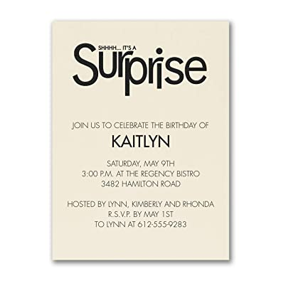 Amazon Com 125pk Surprise Party Birthday Invitation