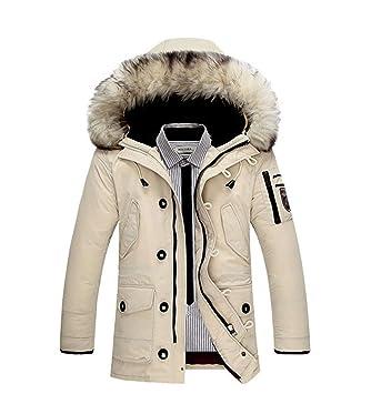 SRL Abrigos cálidos para Hombres Ropa Chaquetas Gruesas Mantener Hombres cálidos Está Abajo Chaqueta Cuello de