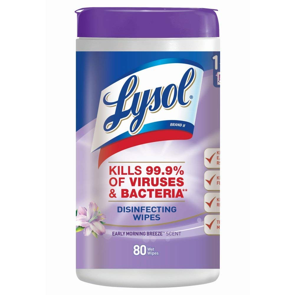 Lysol Disinfecting Wipes, Early Morning Breeze、80 Count (Pack of 3 ) B071PFDM53