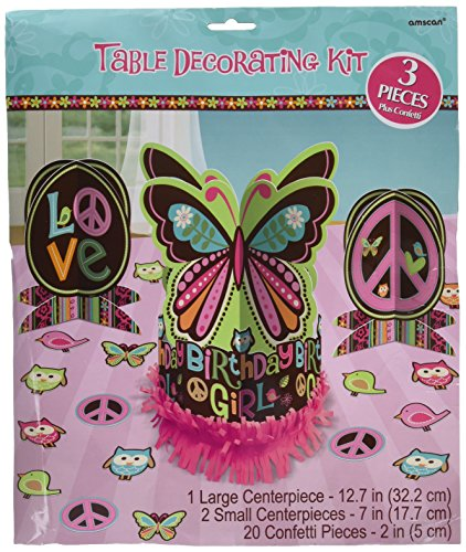 amscan Hippie Chick Birthday Party Table Centerpiece Decoration (23 Pack), 12 3/5