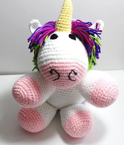 Amazon com: Unicorn, Unicorn Crocheted Toy, Unicorn Stuffed