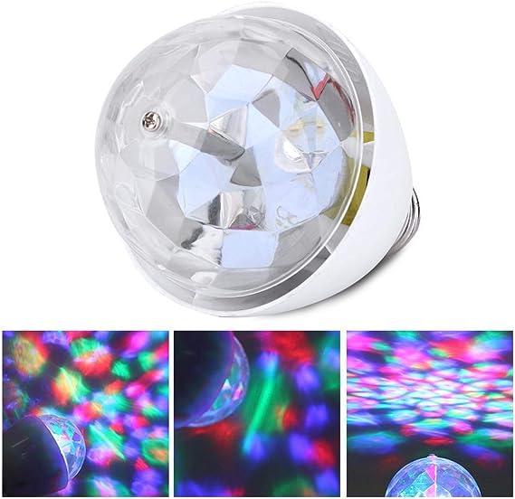 E27 RGB LED Discokugel 3W Rotierend Disco Party Gl/ühbirne Gl/ühlampe Lichteffekt