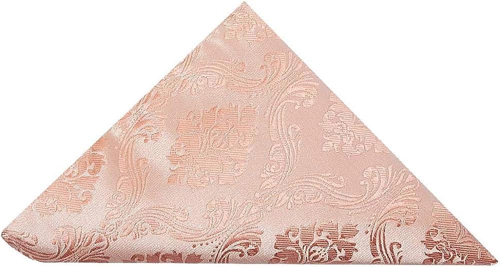 TIES R US Rose Quartz Paisley Pocket Square