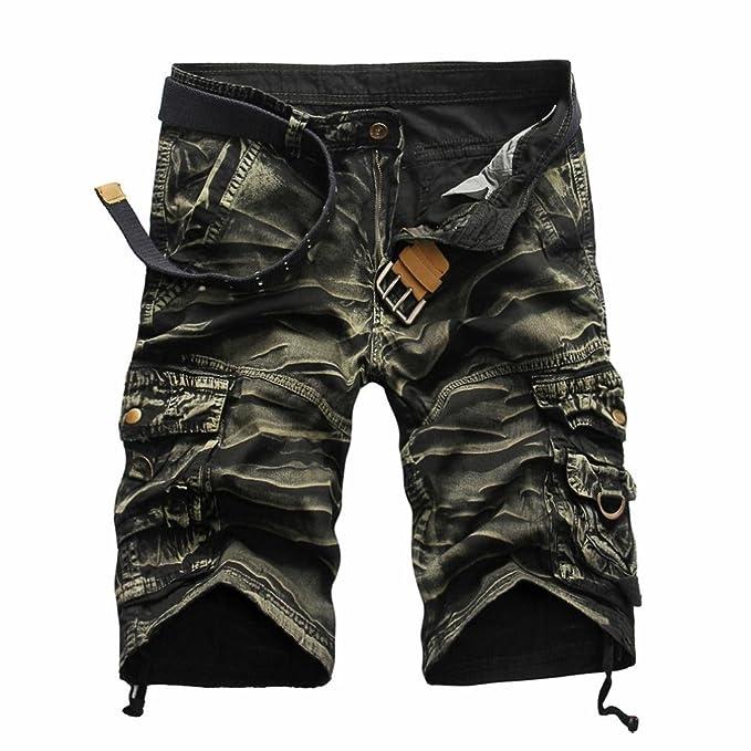 Logobeing Pantalones Cortos Deporte para Hombre - Bermudas Cargo Shorts Pantalón con Bolsillos Moda Leisure Casual 31-38: Amazon.es: Ropa y accesorios