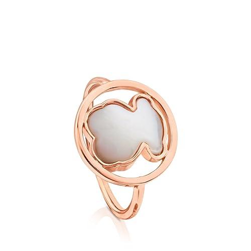 0f9400ee5e Anillo TOUS Camille de plata vermeil rosa con nácar, Baño de oro rosa de  18kt, Diámetro 1,4 cm: Amazon.es: Joyería