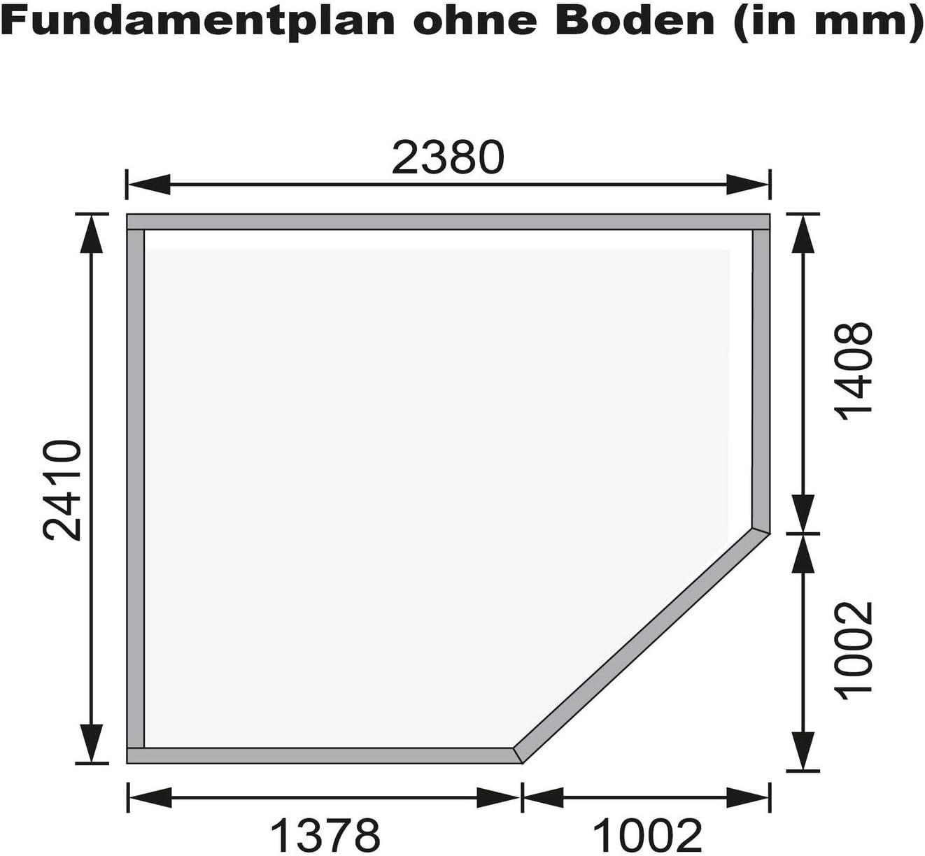 Unbekannt Karibu Gartenhaus Goldendorf 5 terragrau 19 mm
