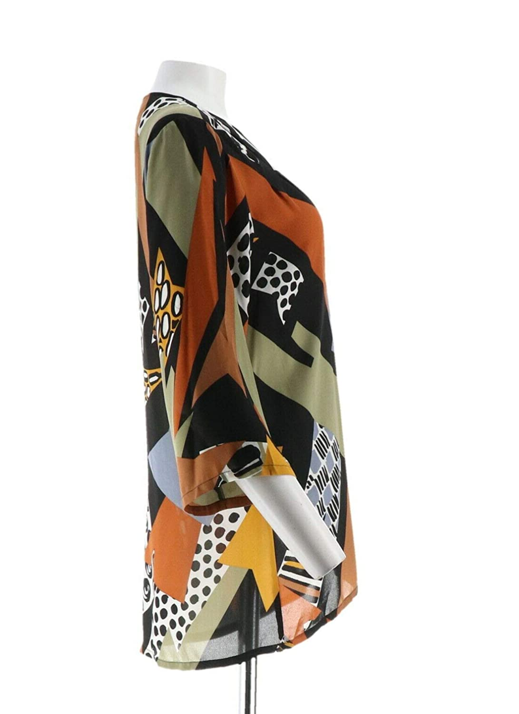 Bob Mackie Carnival Print Chiffon Open Front Cardigan A293812