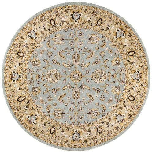 Traditions Waterford Round Rug, 6-Feet by 6-Feet, Sea