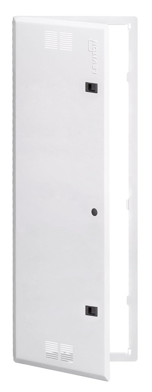 White Leviton 47605-21C 21-Inch Structured Media Flush Mount Cover