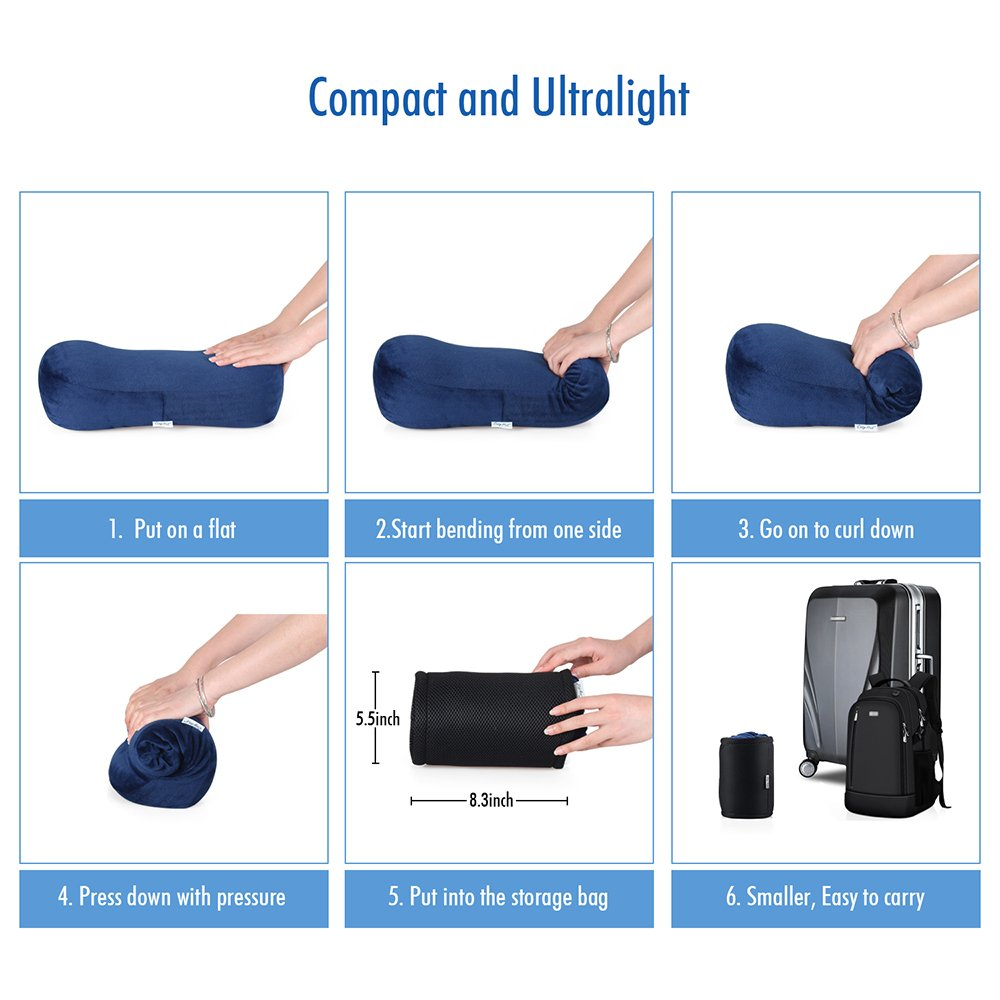 Portable Memory Foam Camping Pillow Travel Pillow