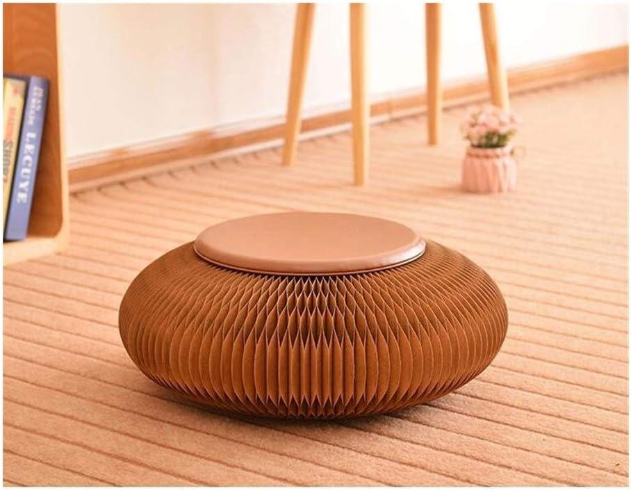 50X18cm tabouret de papier kraft Pliable siège papier, adapté à l'école, salle d'essayage, salle d'exposition siège futon japonais (Color : Brown) Yellow