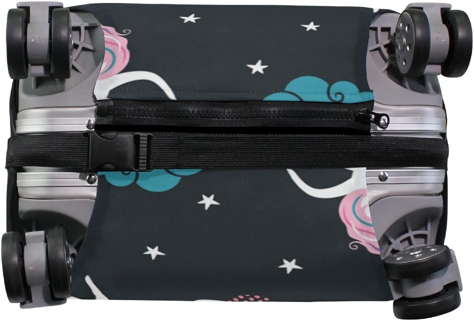 Luggage Protective Covers with Dream Unicorn Washable Travel Luggage Cover 18-32 Inch