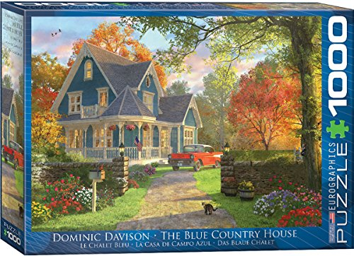 House 1000 Piece Puzzle (EuroGraphics the Blue Country House by Dominic Davison Puzzle (1000 Piece))
