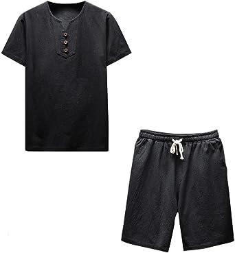 ZARLLE Conjunto De Hombres, Hombres Camisetas Casuales De Color ...