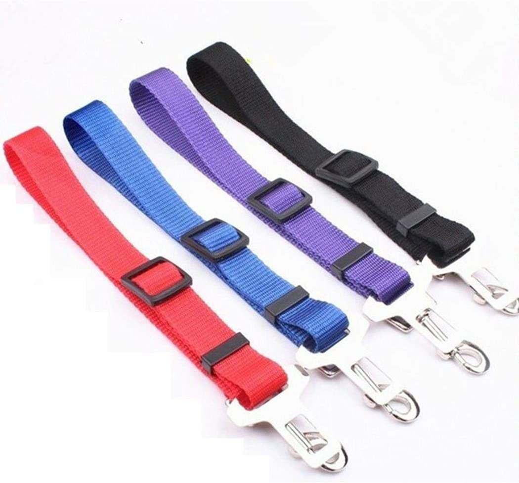 Purple Gonikm Adjustable Comfortable Safety Pet Dog Car Vehicle Seat Safety Belt