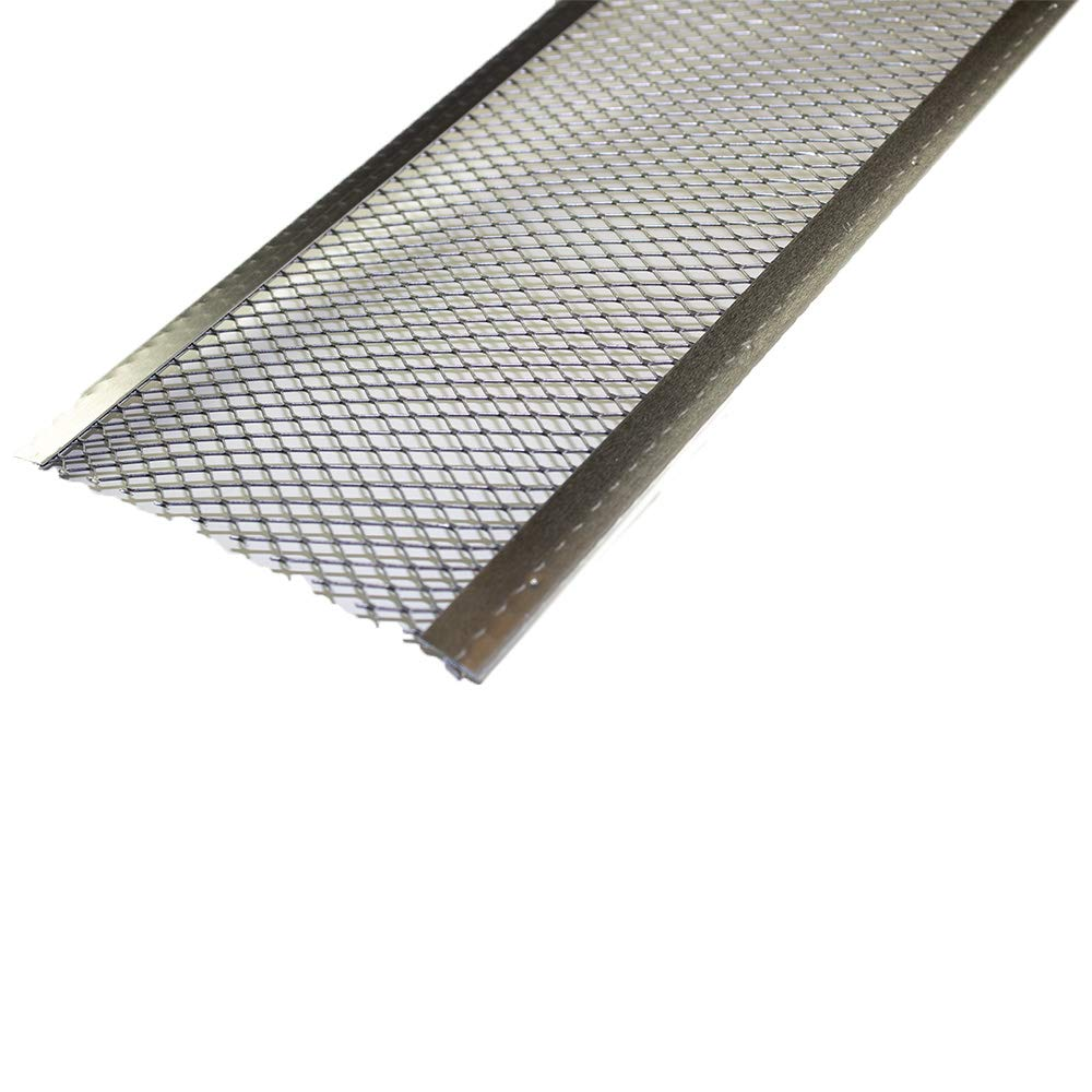 Spectra Metal Sales GS5013M25 Armour Screen Gutter Guard, Corrosive Resistant Aluminum, Easy to Install with Self-Locking''C'' Clip, Double Reinforced Edges, 5'' x 3', Pack of 25 (Total 75 ft) by Spectra Metal Sales