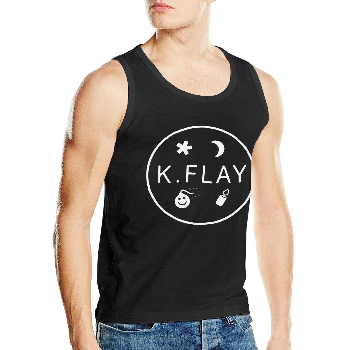 K Flay Logo Mans Stylish Sleeveless No Pocket Vest for Men