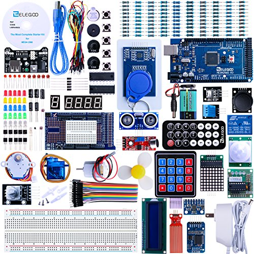Elegoo EL-KIT-008 Mega 2560 Project The Most Complete Ultimate Starter Kit w/Tutorial for Arduino UNO Nano (Best Arduino Starter Kit)