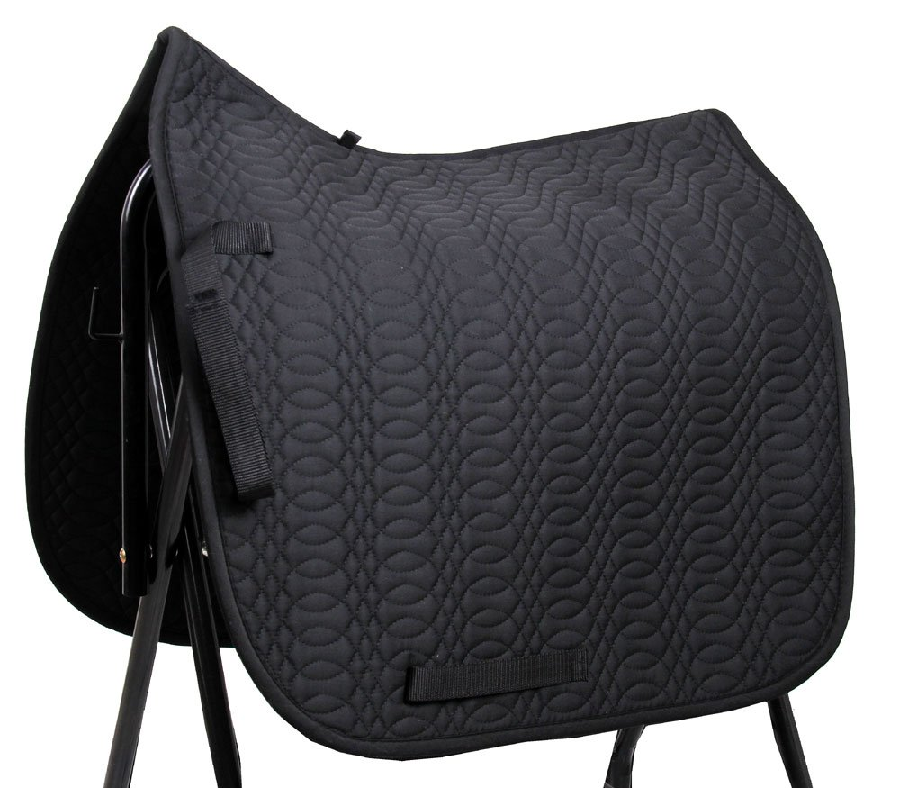 Merauno Saddle Cloth Numnah Dressage Cotton Quilted Horse Saddle Pad Cloth Horse Riding Soft Black