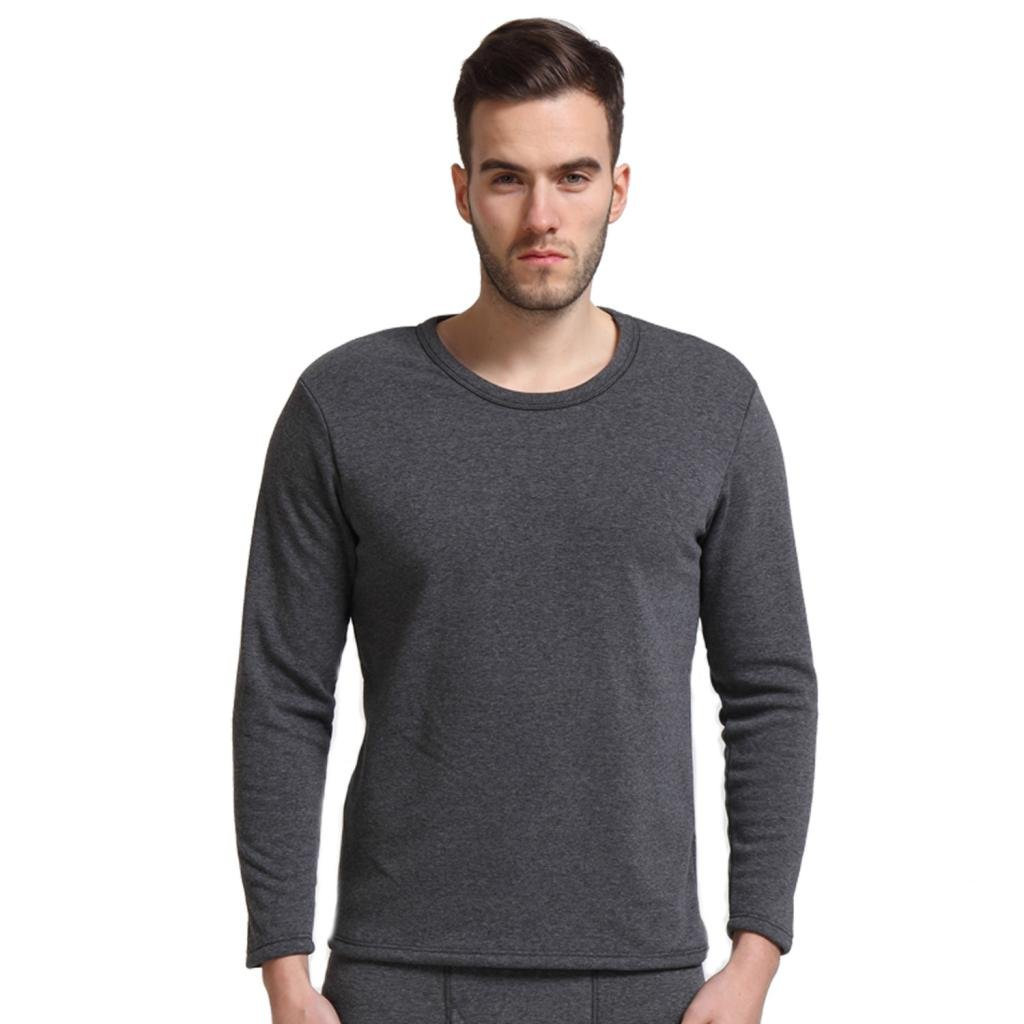Liang Rou Men's Crew Neck Fleece Lined Thick Thermal Shirt Baifu International Limited FLT688-$T