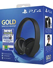 Sony Gold Black Wireless 7.1 Gaming Headset - Fortnite Neo Versa Bundle PS4