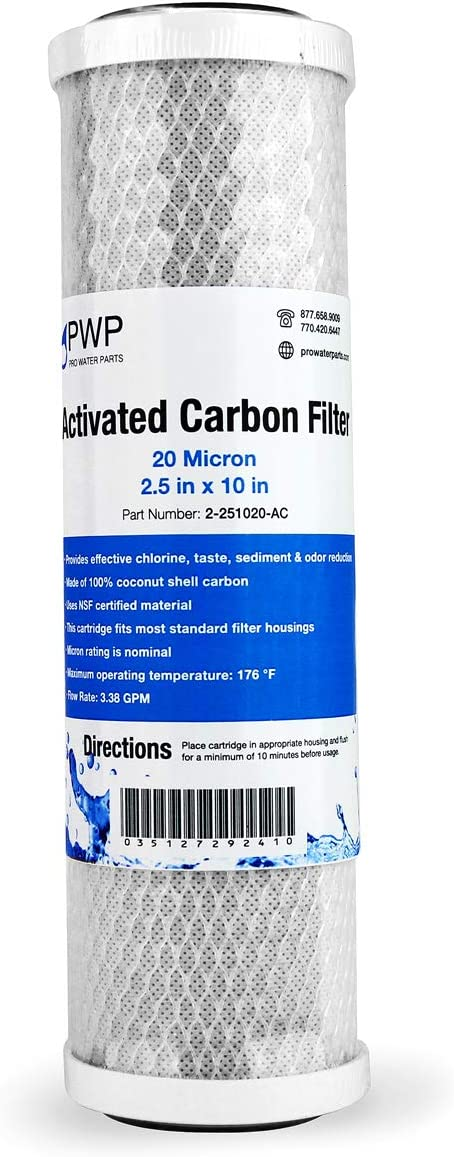 Carbon Filter 5 Micron PWP CTO Pro Water Parts Brand  RO filter Taste and Odor