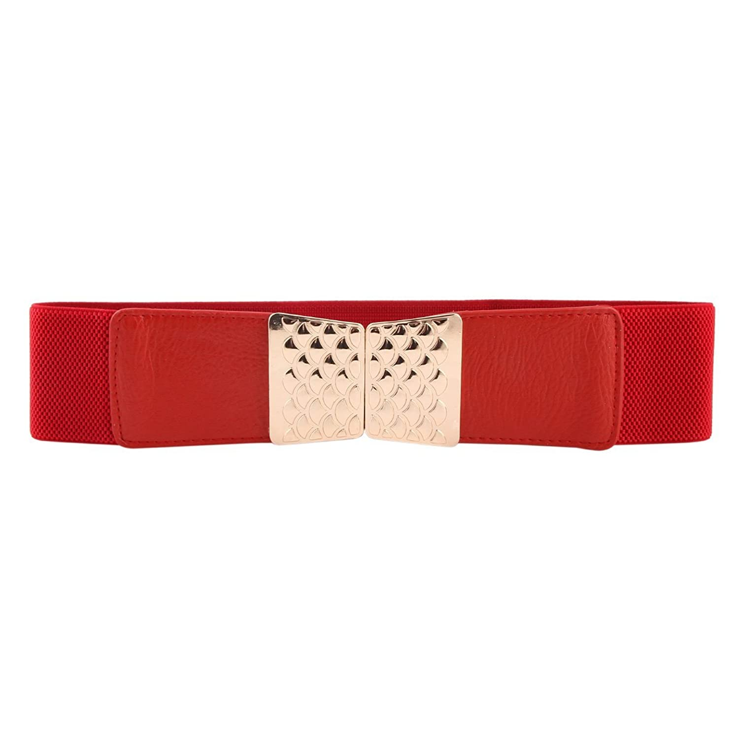 Damara Women Squama Interlocking Buckle Stretch Elastic Belt