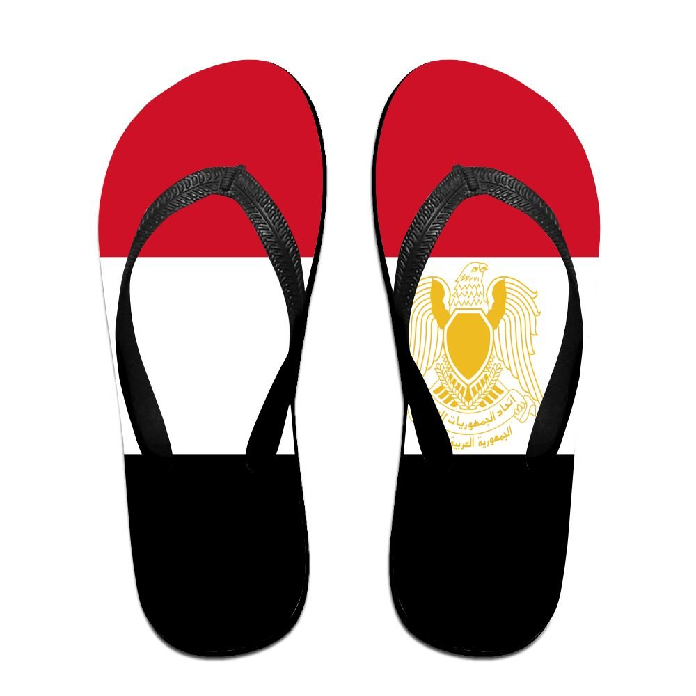 Flag Of Libya Cozy Flip Flops For Children Adults Men And Women Beach Sandals Pool Party Slippers