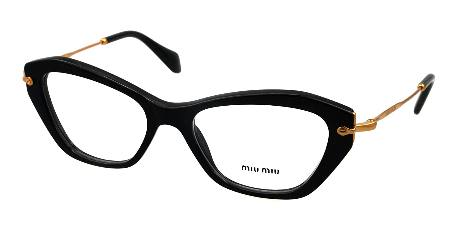 Miu Miu Eyeglasses VMU 04L BLACK 1AB1O1 VMU04L: Amazon.co.uk: Clothing