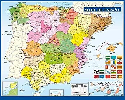 La Spagna Cartina.Grupo Erik Editores Mini Poster Mappa Della Spagna Amazon It Casa E Cucina