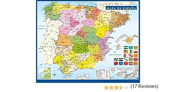 Grupo Erik Editores Mini poster Mapa De España: Amazon.es: Oficina ...